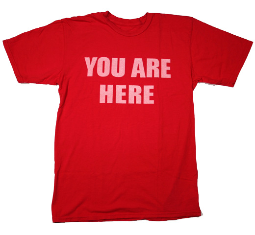 【Worn Free】 John Lennon / You Are Here Tee (Red)