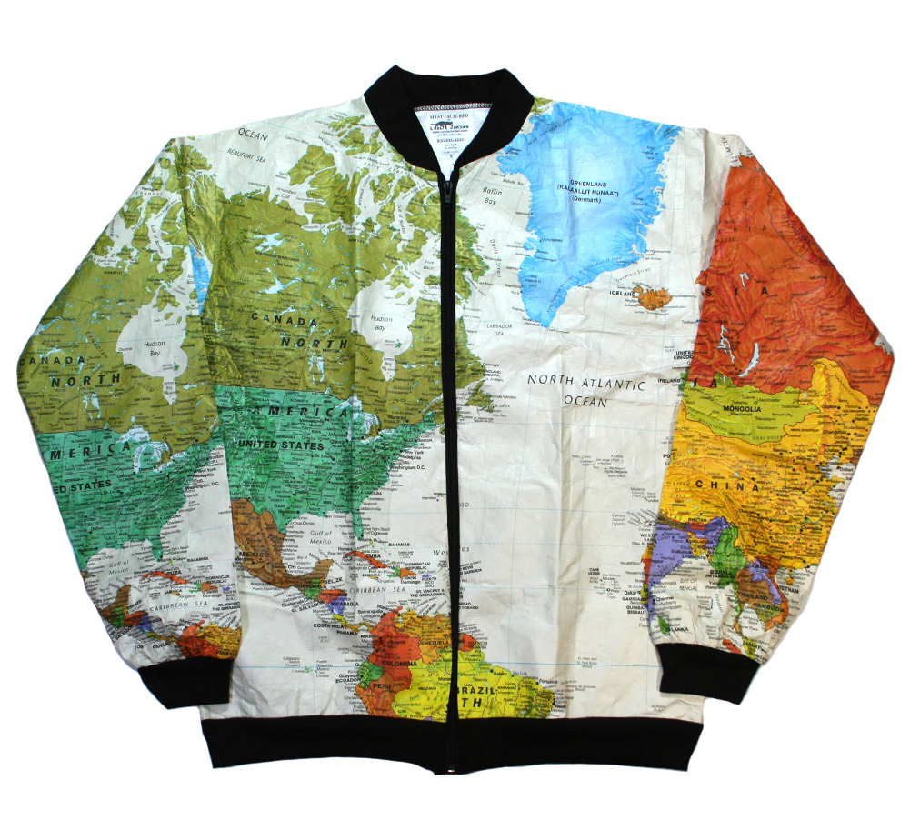 【Leslie Jordan】 TYVEK Jacket (World Map)