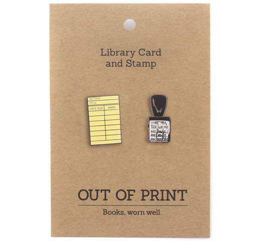【Out of Print】 Library Card and Stamp Enamel Pin Set