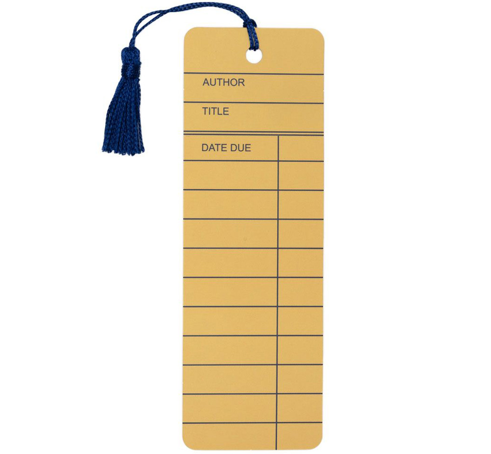 [Out of Print] Library Card Bookmark