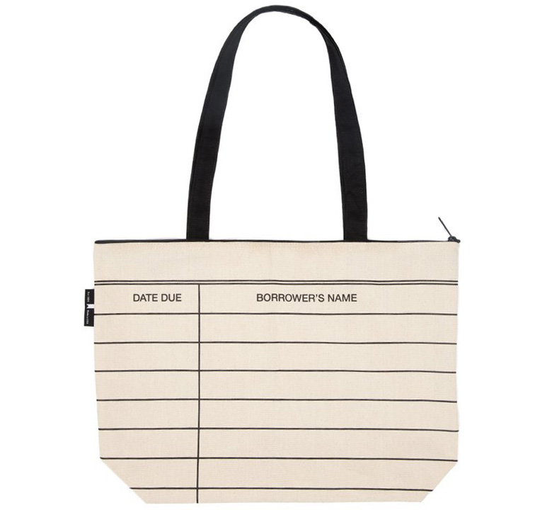 [Out of Print] Library Card Market Tote Bag (Natural)
