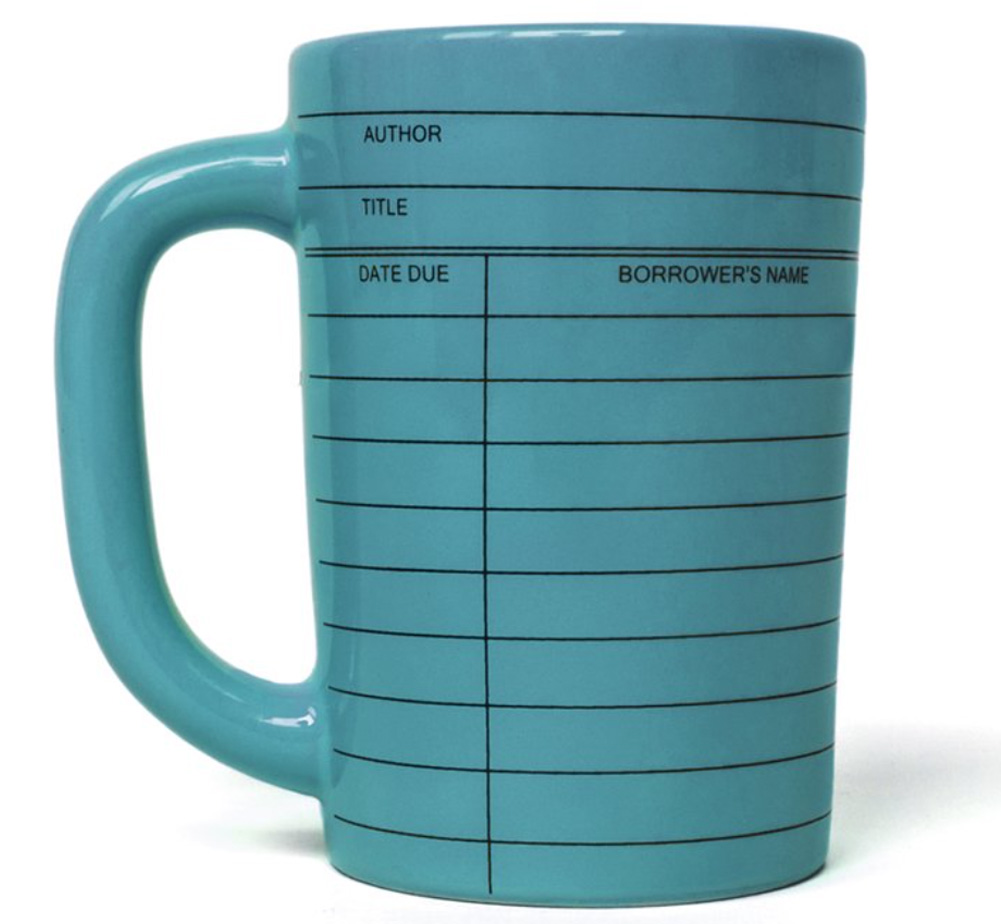 【Out of Print】 Library Card Mug (Blue)