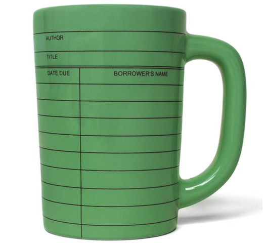 【Out of Print】 Library Card Mug (Green)
