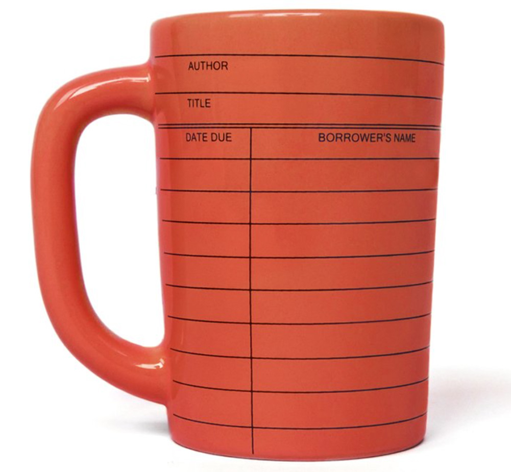 【Out of Print】 Library Card Mug (Red)