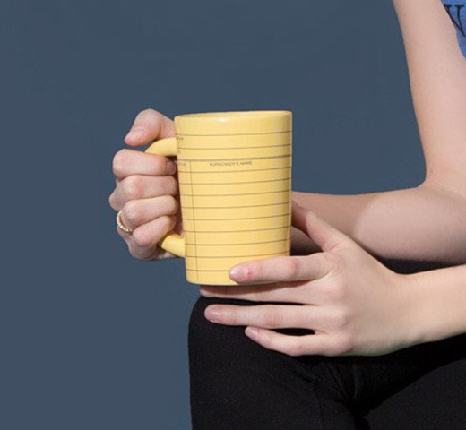 【Out of Print】 Library Card Mug (Yellow)