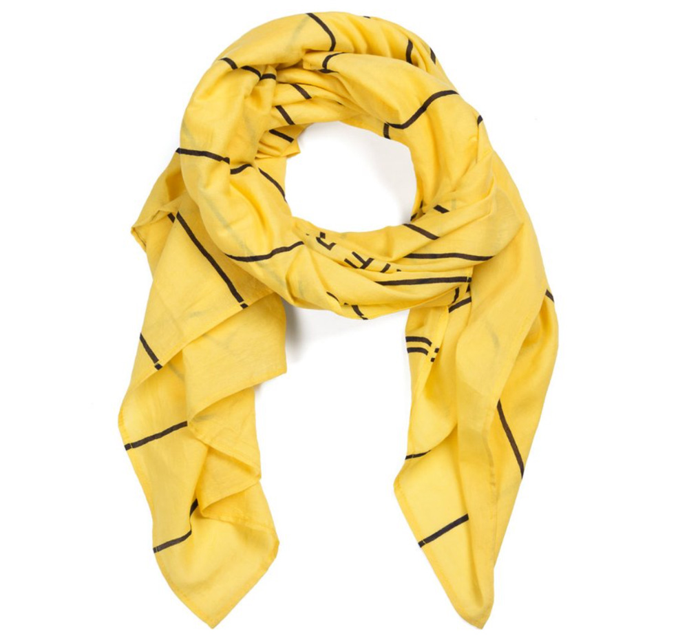 【Out of Print】 Library Card Lightweight Scarf (Yellow)
