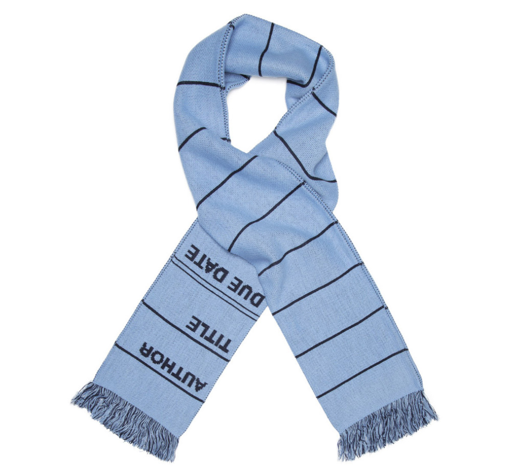 【Out of Print】 Library Card Scarf (Blue)