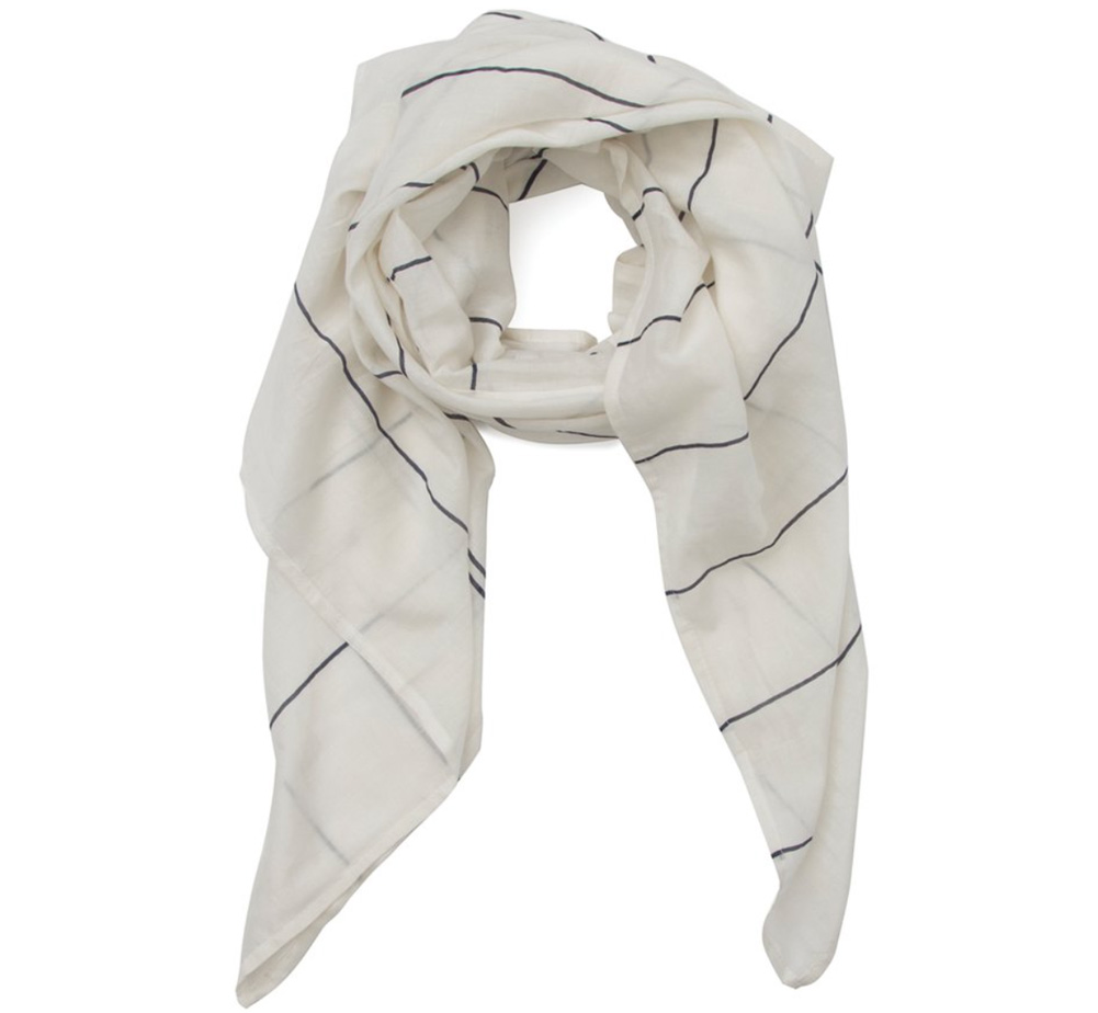 【Out of Print】 Library Card Lightweight Scarf (White)