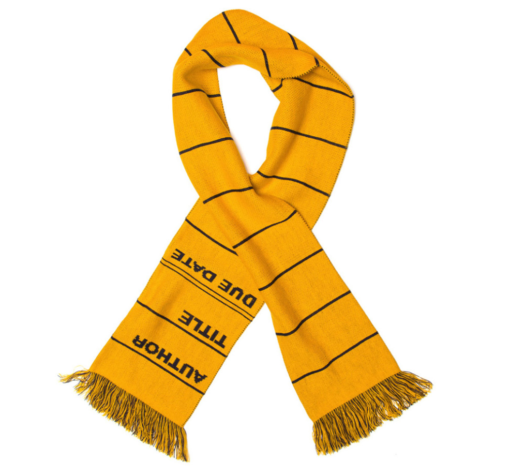 【Out of Print】 Library Card Scarf (Yellow)