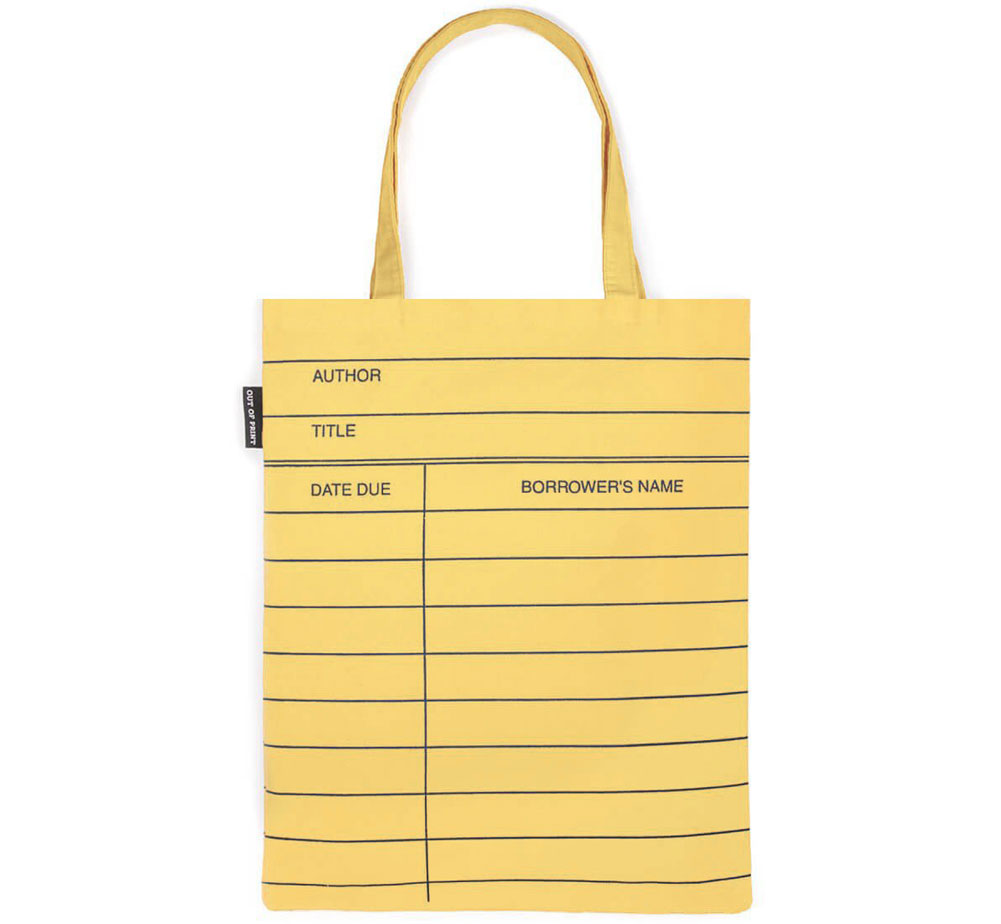 [Out of Print] Library Card Tote Bag (Light Yellow)