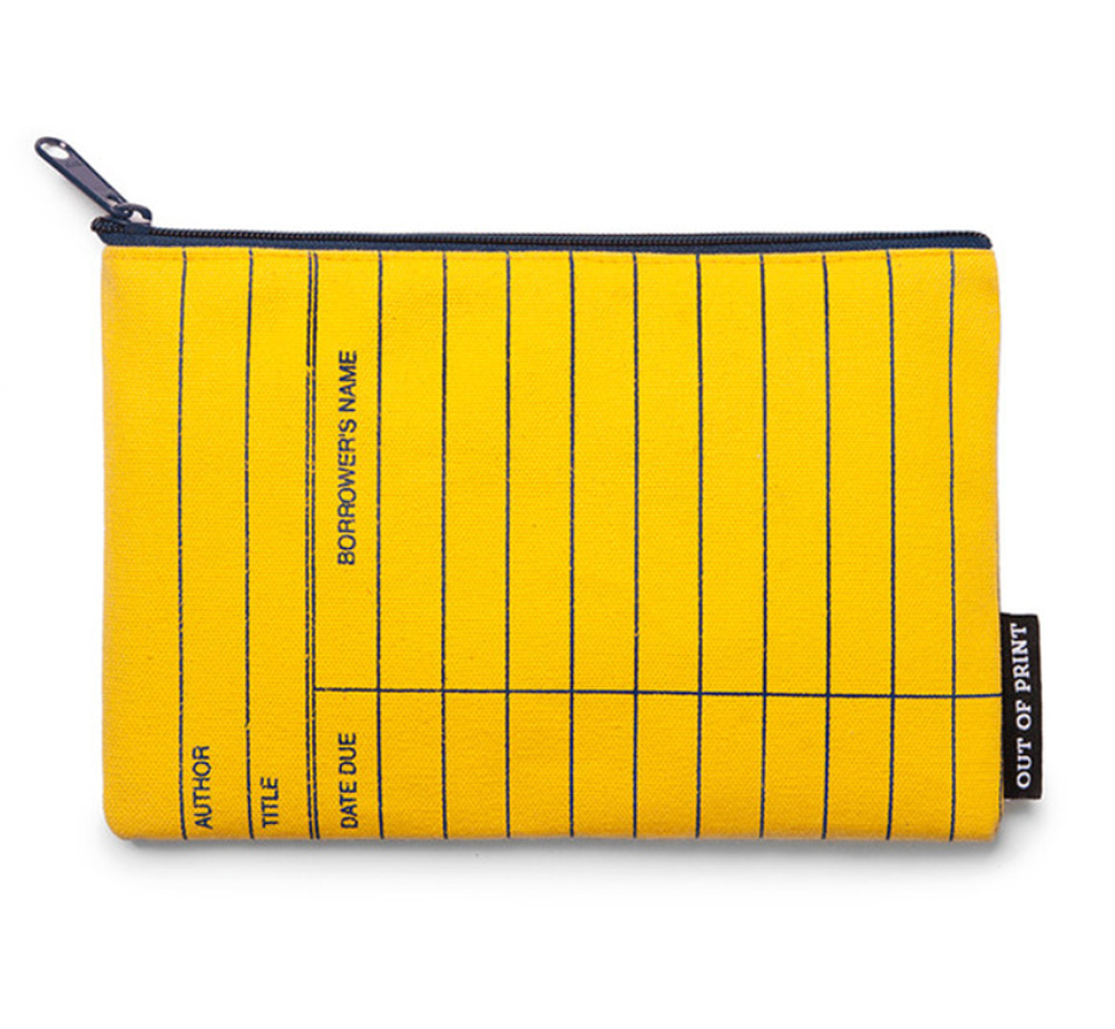 【Out of Print】 Library Card Pouch (Classic Yellow)