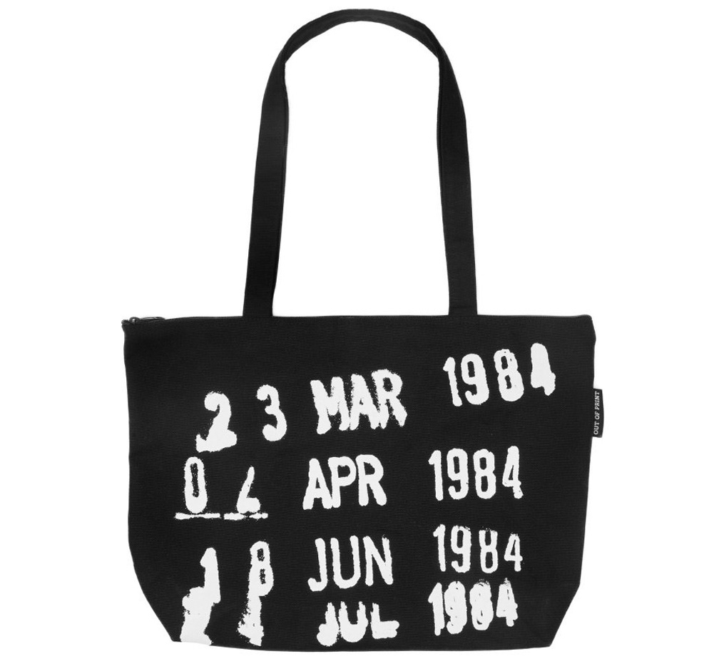 [Out of Print] Library Stamp Market Tote Bag (Black)