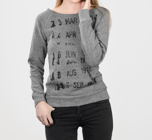 [Out of Print] Library Stamp Sweatshirt (Grey) (Womens)