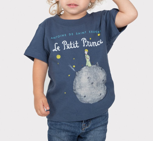 【Out of Print】 Saint-Exupéry / Le Petit Prince Tee (Light Navy) (Kids')