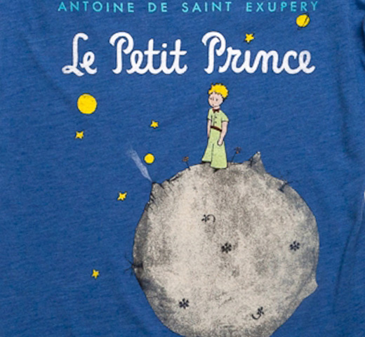 ��Out of Print�� Saint-Exupéry / Le Petit Prince Scoop Neck Tee (Heather Royal) (Womens)