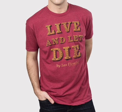 【Out of Print】 Ian Fleming / Live and Let Die Tee (Red)