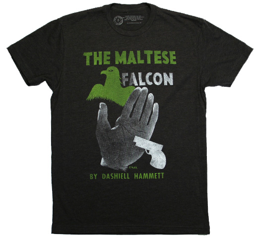 【Out of Print】 Dashiell Hammett / The Maltese Falcon Tee (Heather Black)