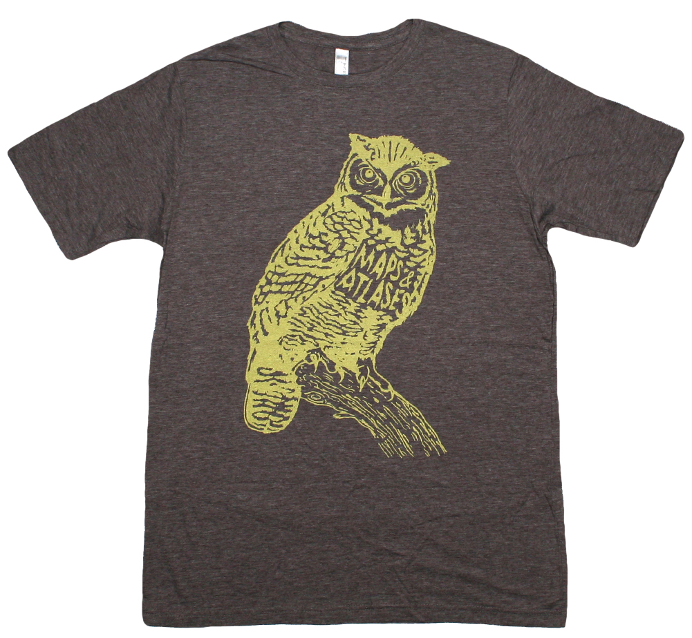Maps & Atlases / Owl Tee (Heather Brown)