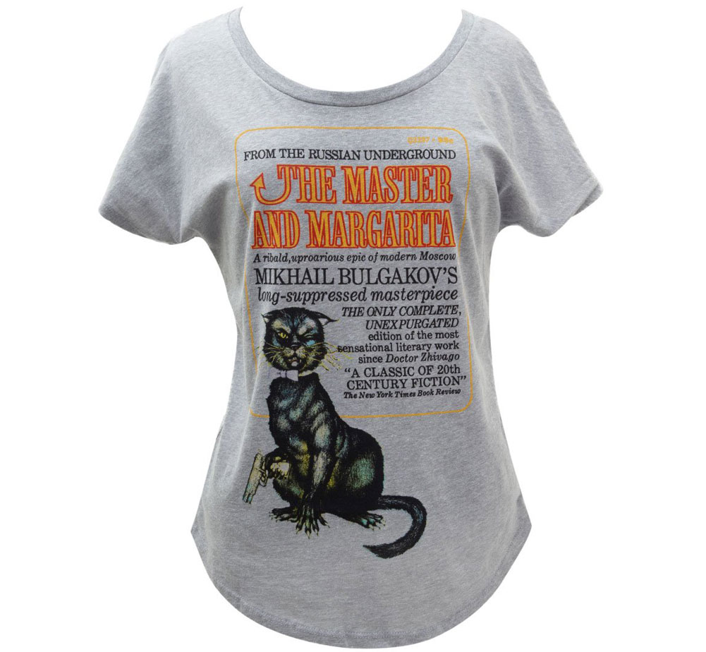 [Out of Print] Mikhail Bulgakov / The Master and Margarita Relaxed Fit Tee (Heather Grey) (Womens)