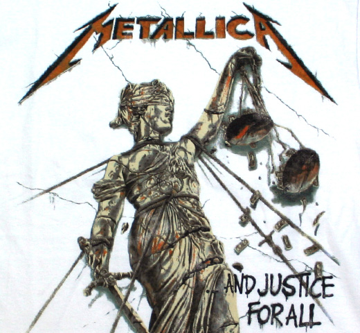 Metallica / ...And Justice For All Tee (White)