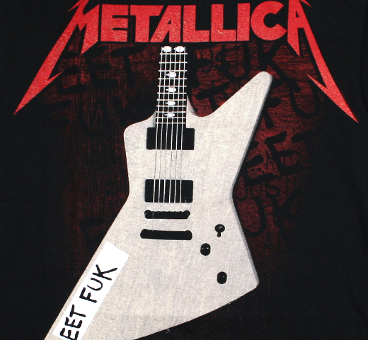 Metallica / James Hetfield's Guitar Tee (Black)
