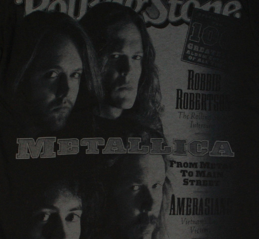 【Rolling Stone】 Metallica / Issue #617 Tee (Vintage Black)