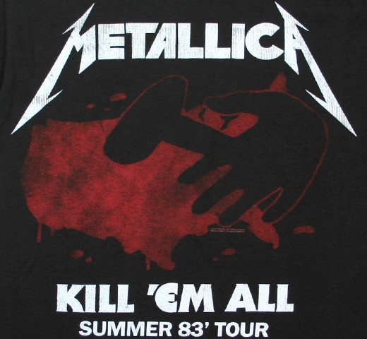 Metallica / Kill 'Em All For One Summer 83' Tour Tee (Black)