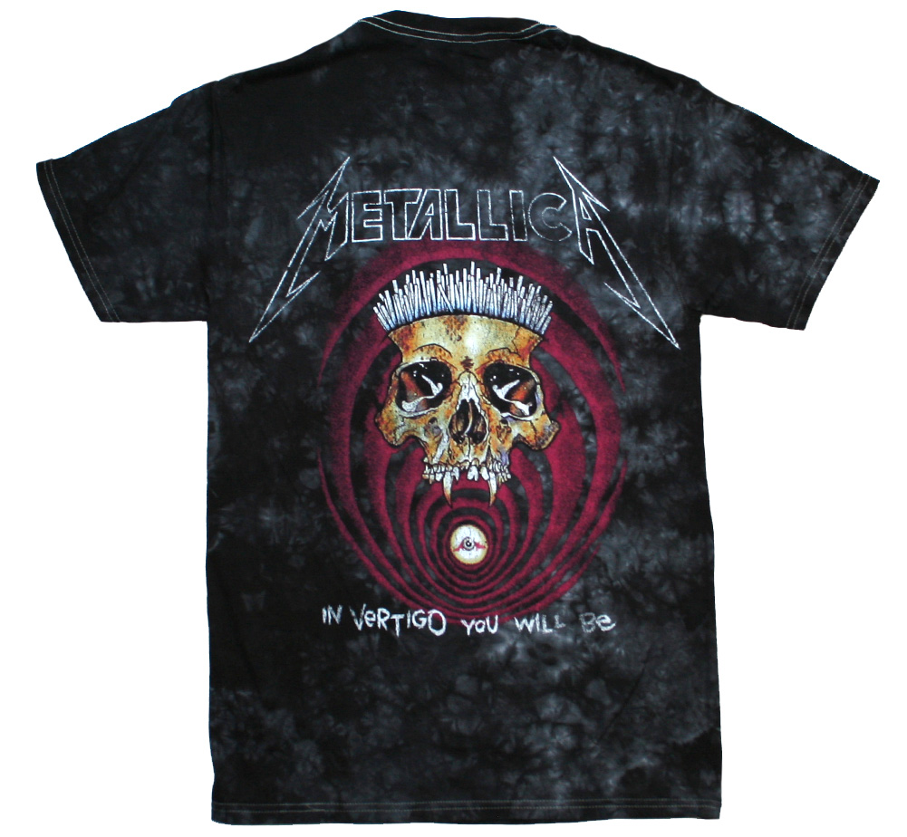 Metallica / The Shortest Straw / In Vertigo You Will Be Tie Dye Tee (Black)