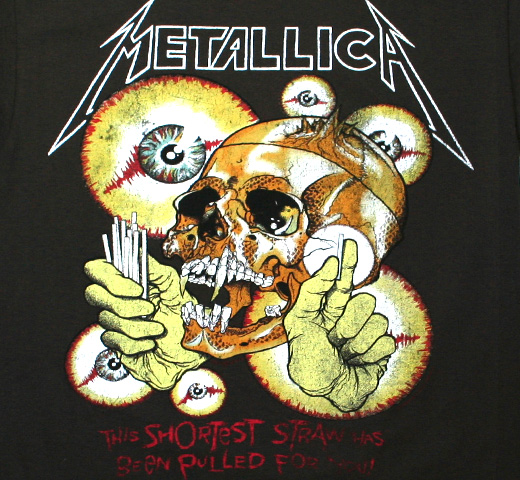 Metallica / The Shortest Straw / In Vertigo You Will Be Tee (Charcoal)