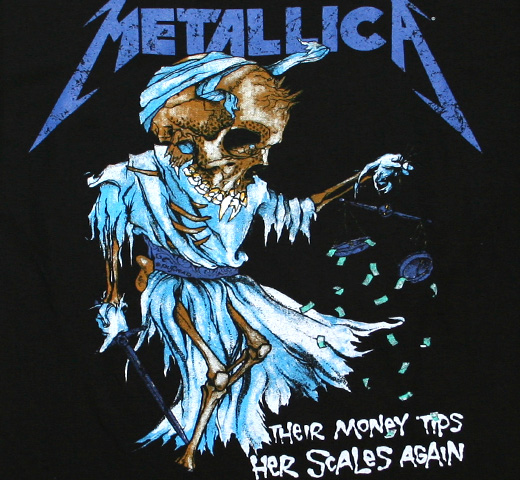 Metallica / Their Money Tips Her Scales Again Tee (Black)