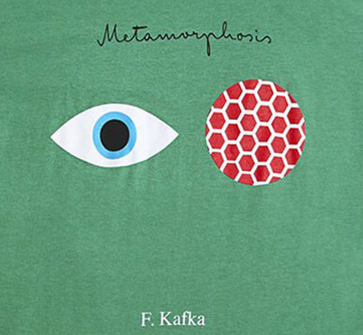 [Out of Print] Franz Kafka / The Metamorphosis Tee (Heather Kelly Green)