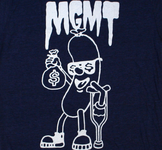 MGMT / Hot Dog Tee (Navy)