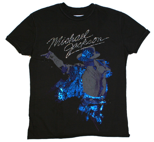 【Amplified】 Michael Jackson / Portrait Tee (Charcoal) (Diamante)