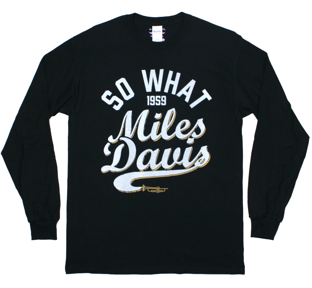 Miles Davis / So What Long Sleeve Tee (Black)