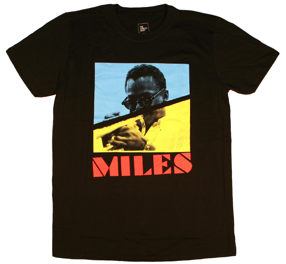 Miles Davis / Throwback Tee (Black)