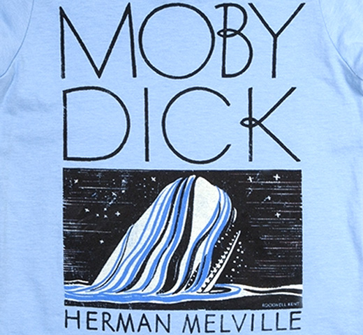 【Out of Print】 Herman Melville / Moby-Dick Tee (Light Blue) (Kids')