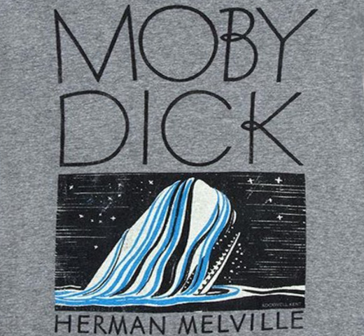 【Out of Print】 Herman Melville / Moby-Dick Scoop Neck Tee (Heather Grey) (Womens)