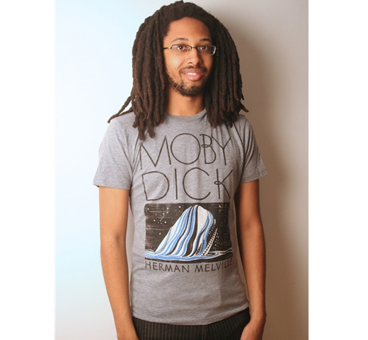 【Out of Print】 Herman Melville / Moby-Dick Tee (Heather Grey)