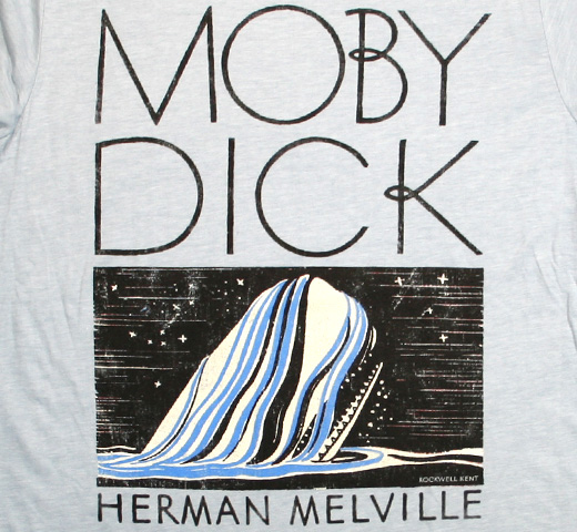 【Out of Print】 Herman Melville / Moby-Dick Tee (Stonewash Denim)
