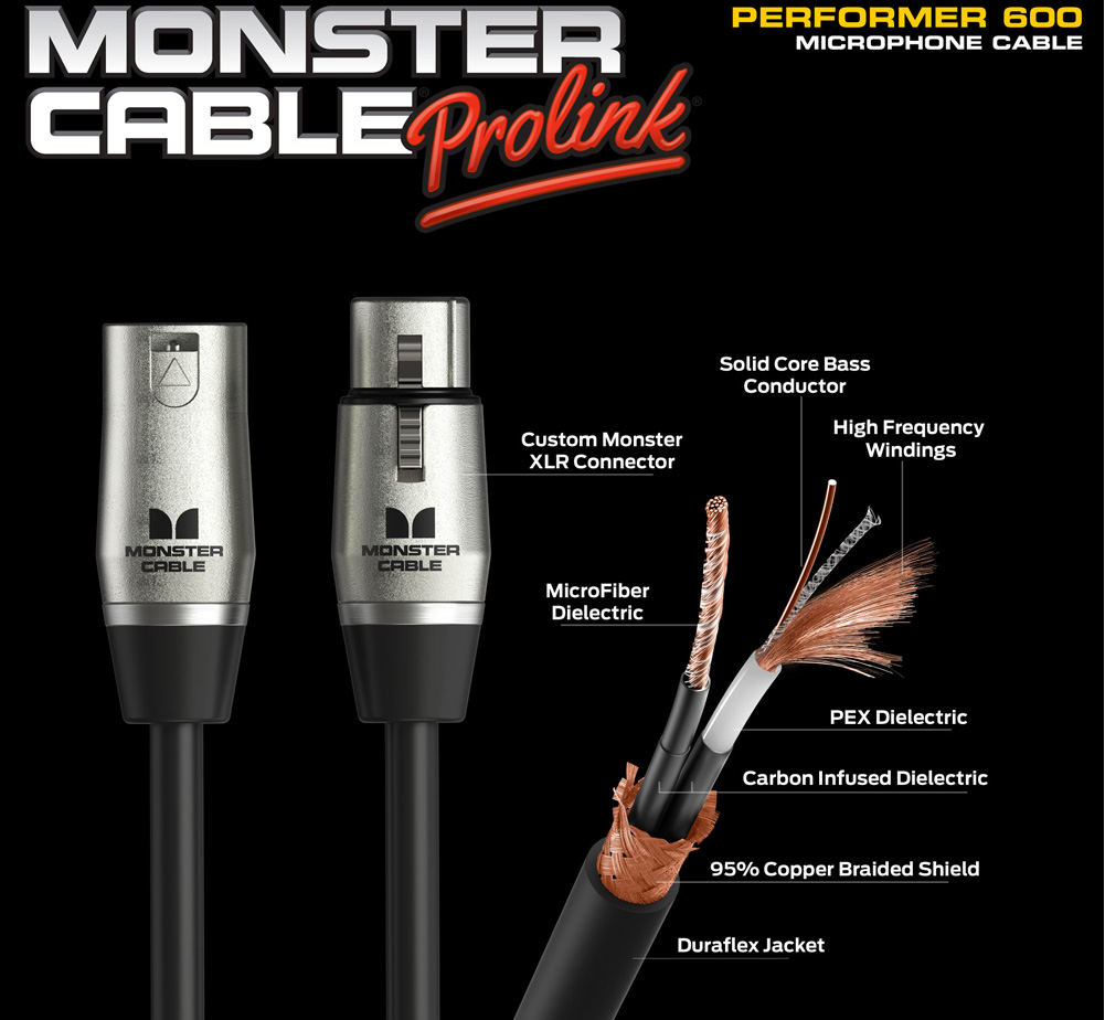 【MONSTER CABLE】 P600-M-5 (XLR / 1.5m)