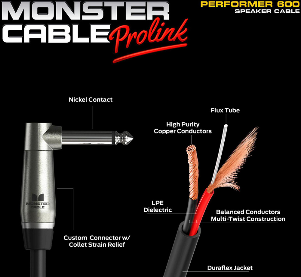 【MONSTER CABLE】 P600-SC-3 (Faston / 90cm)