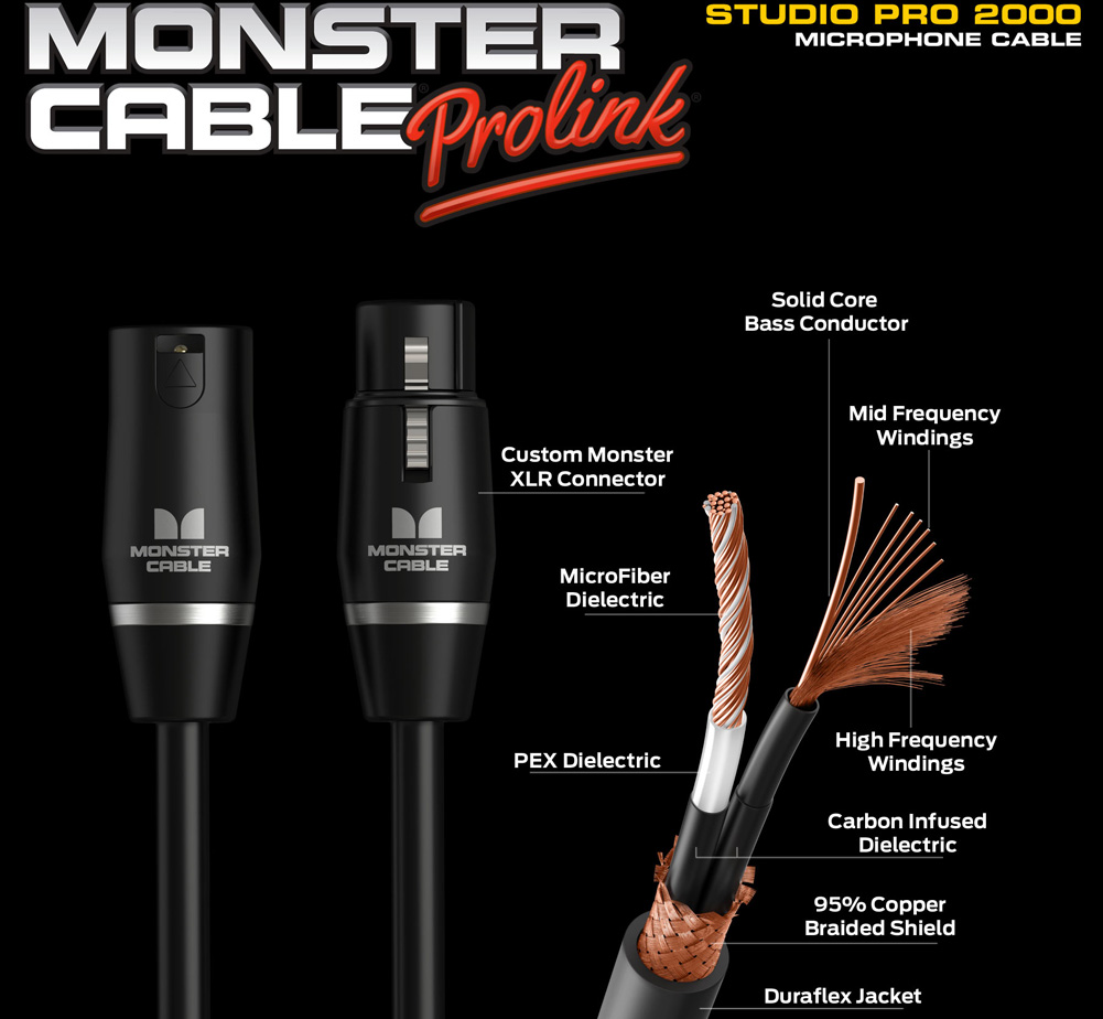 【MONSTER CABLE】 SP2000-M-10 (XLR / 3m)