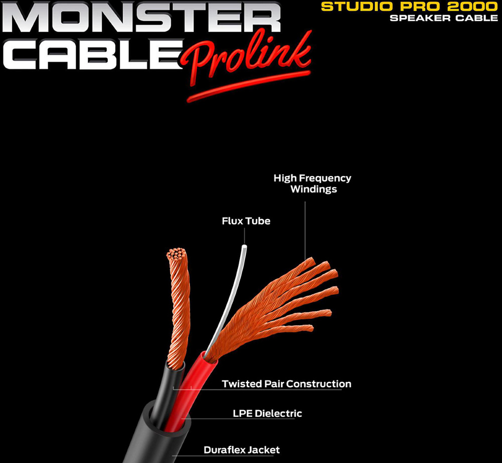 【MONSTER CABLE】 SP2000-S-3SP (Speak-On / 90cm)