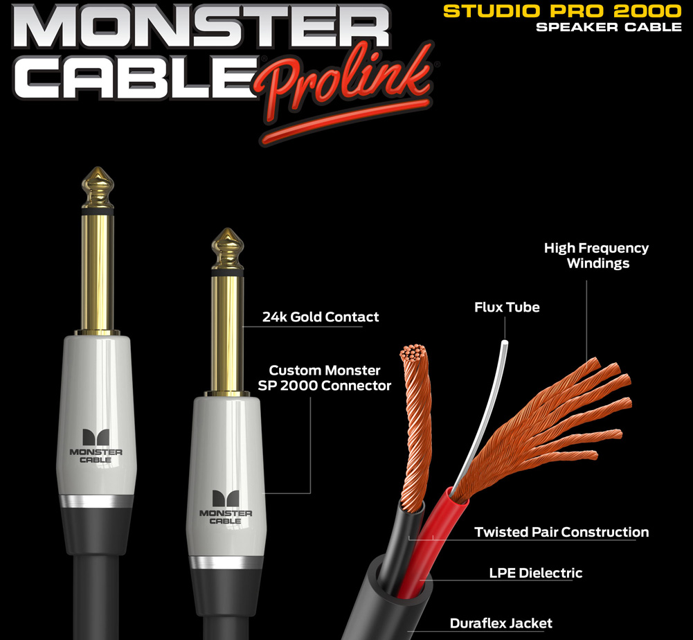 【MONSTER CABLE】 SP2000-S-3 (SS / 90cm)