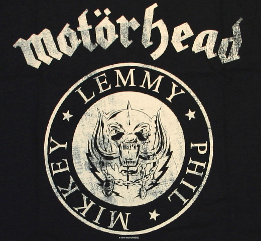 Motörhead / Undercover Seal Newsprint Tee (Black)