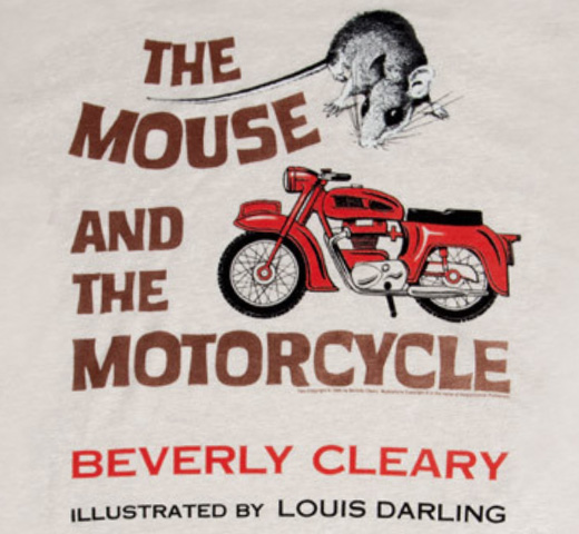 【Out of Print】 Beverly Cleary / The Mouse and the Motorcycle Tee (Sand)