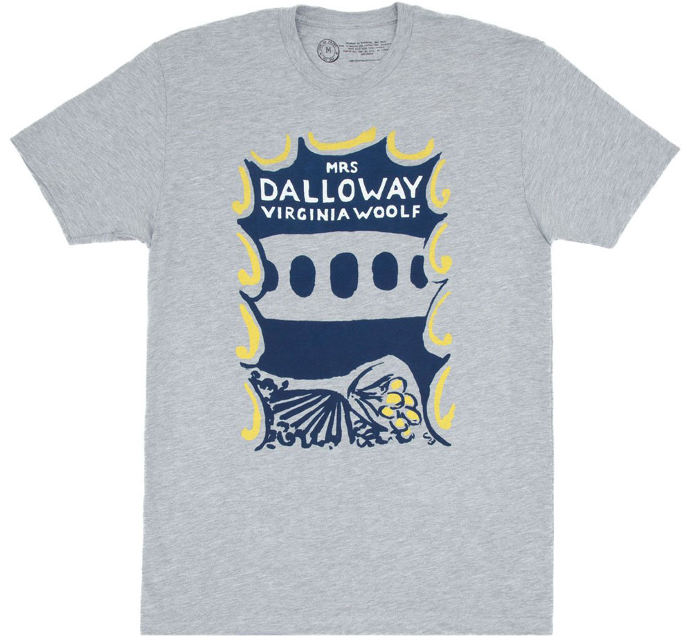 [Out of Print] Virginia Woolf / Mrs Dalloway Tee (Heather Grey)