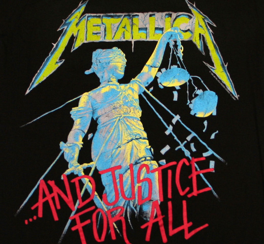 Metallica / ...And Justice For All Tee (Vintage Style)