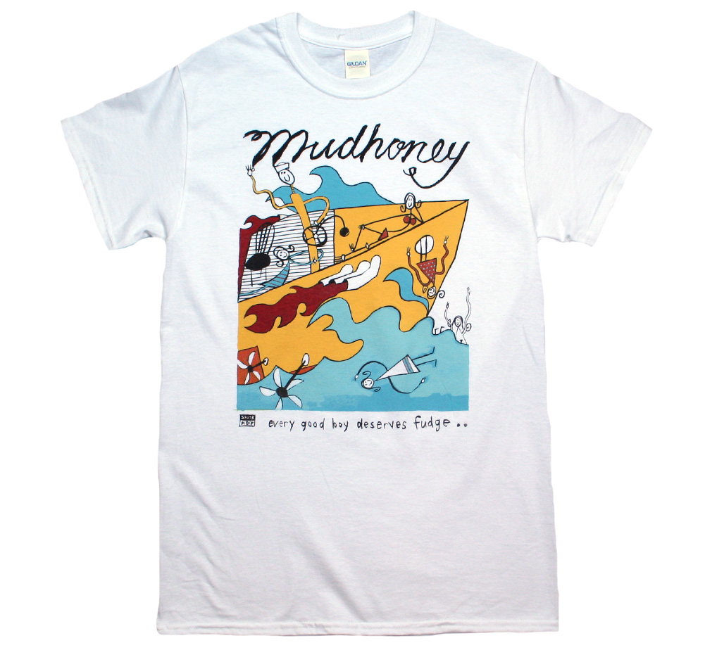 Mudhoney / Every Good Boy Deserves Fudge Tee (White)