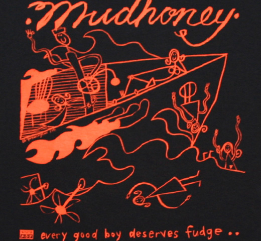 Mudhoney / Every Good Boy Deserves Fudge Tee (Black)